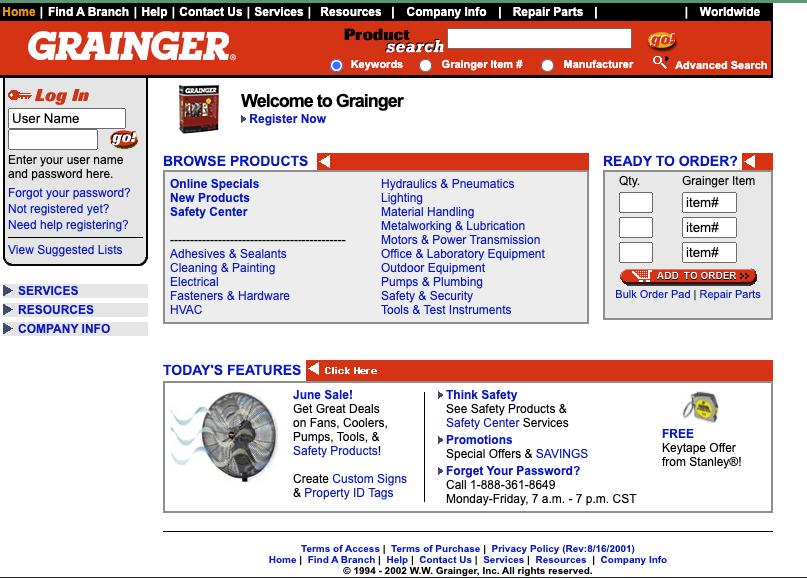 Grainger.com Web Archive